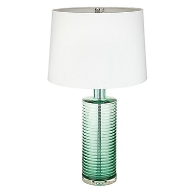 MagMileLamps Emerald Ribbed 26'' Table Lamp