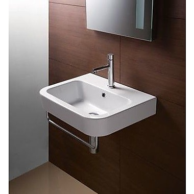 GSI Collection Traccia 22'' Wall Mounted Bathroom Sink w/ Overflow