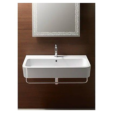 GSI Collection Traccia 35.4'' Wall Mounted Bathroom Sink w/ Overflow