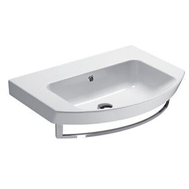 GSI Collection Modo 25.6'' Wall Mounted Bathroom Sink w/ Overflow