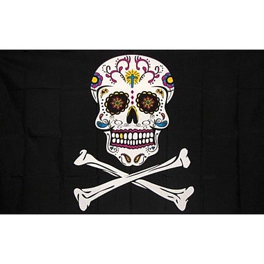 NeoPlex Pirate Sugar Skull Traditional Flag