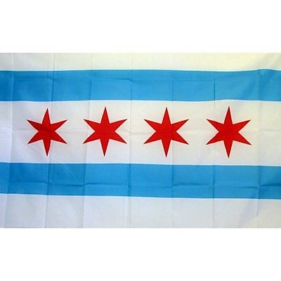 NeoPlex City of Chicago Novelty Traditional Flag