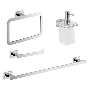 Gedy by Nameeks Atena 4 Piece Bathroom Hardware Set