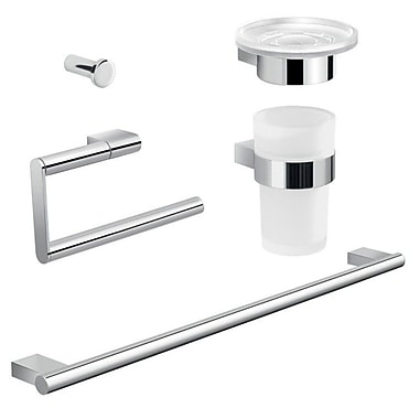 Gedy by Nameeks Canarie 5 Piece Bathroom Hardware Set