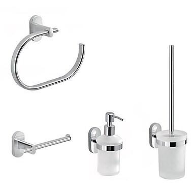 Gedy by Nameeks Febo 4 Piece Bathroom Hardware Set