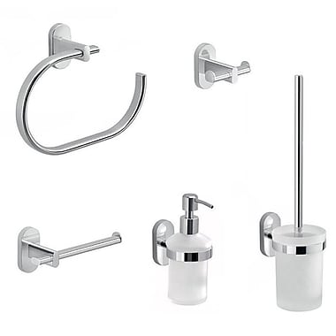 Gedy by Nameeks Febo 5 Piece Bathroom Hardware Set