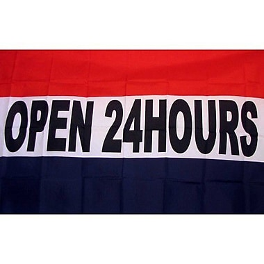 NeoPlex Open 24 Hours Traditional Flag