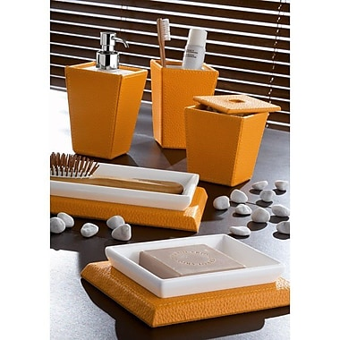 Gedy by Nameeks Kyoto 5-Piece Bathroom Accessory Set; Orange