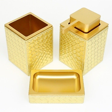 Gedy by Nameeks Marrakech 3-Piece Bathroom Accessory Set; Gold