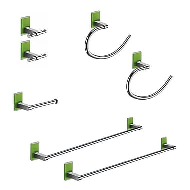 Gedy by Nameeks Maine 7 Piece Bathroom Hardware Set; Green