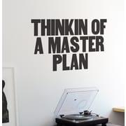 BLIK Inc Thinkin of a Master Plan Wall Decal