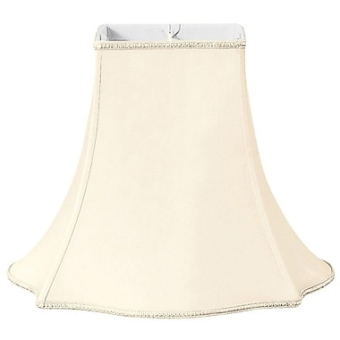 RoyalDesigns Timeless 10'' Silk/Shantung Bell Lamp Shade; Eggshell/Off-White