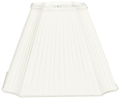 RoyalDesigns Timeless 15'' Silk/Shantung Empire Lamp Shade; White/Off-White