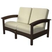 Trex Rockport Club Deep Seating Sofa w/ Cushions; Vintage Lantern / Bird's Eye