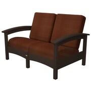 Trex Rockport Club Deep Seating Sofa w/ Cushions; Vintage Lantern / Chili
