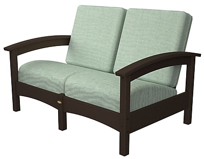 Trex Rockport Club Deep Seating Sofa w/ Cushions; Vintage Lantern / Spa