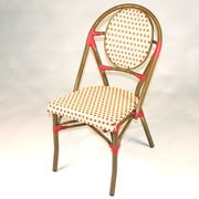 Infinita Corporation French Armless Stacking Chair (Set of 6); Red