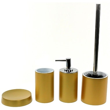 Gedy by Nameeks Yucca 4-Piece Bathroom Accessory Set; Gold