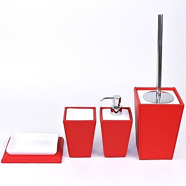 Gedy by Nameeks Kyoto 4-Piece Bathroom Accessory Set; Red