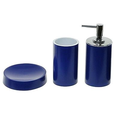 Gedy by Nameeks Yucca 3-Piece Bathroom Accessory Set; Blue