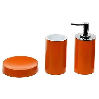 Gedy by Nameeks Yucca 3-Piece Bathroom Accessory Set; Orange
