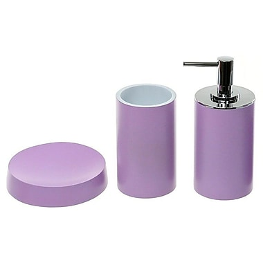 Gedy by Nameeks Yucca 3-Piece Bathroom Accessory Set; Lilac
