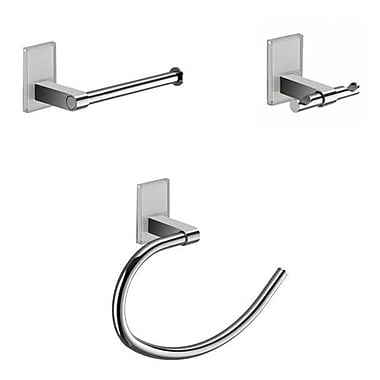 Gedy by Nameeks Maine 3 Piece Bathroom Hardware Set; White