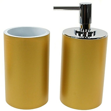 Gedy by Nameeks Yucca 2-Piece Bathroom Accessory Set; Gold