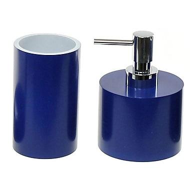 Gedy by Nameeks Yucca 2-Piece Bathroom Accessory Set; Blue