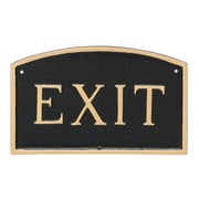 Montague Metal Products Small Arch Exit Statement Garden Plaque; Black/Gold