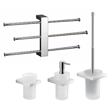 Gedy by Nameeks Lanzarote 4 Piece Bathroom Hardware Set