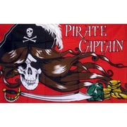 NeoPlex Pirate Captain Traditional Flag