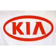 NeoPlex Kia Auto Logo w/ Words Traditional Flag