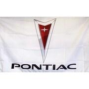 NeoPlex Pontiac Auto Logo w/ Words Traditional Flag