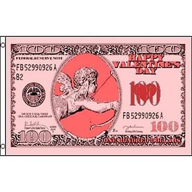 NeoPlex Cupid Money $100 Valentines Day Traditional Flag