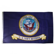 NeoPlex Navy Retired Traditional Flag