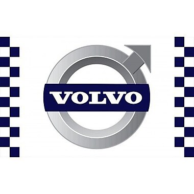 NeoPlex Volvo Checkered Traditional Flag