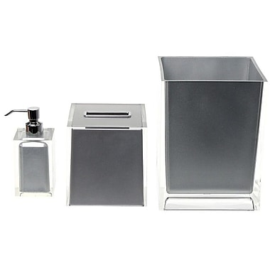 Gedy by Nameeks Rainbow 3-Piece Bathroom Accessory Set; Silver