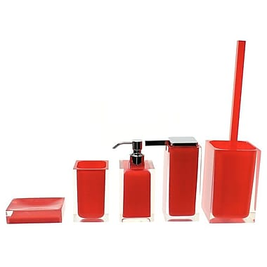 Gedy by Nameeks Rainbow 5-Piece Bathroom Accessory Set; Red