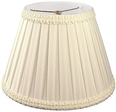 RoyalDesigns Timeless 8'' Silk/Shantung Empire Lamp Shade; Beige/Off-White