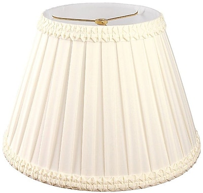 RoyalDesigns Timeless 8'' Silk/Shantung Empire Lamp Shade; Eggshell/Off-White
