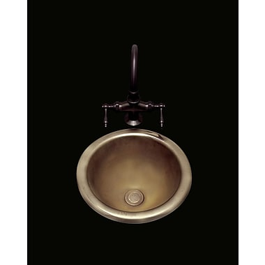 Bates & Bates Donna Circular Undermount Bathroom Sink w/ Overflow; White