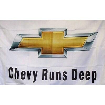 NeoPlex Chevy Runs Deep Auto Logo Traditional Flag