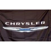 NeoPlex Chrysler Auto Logo w/ Words Traditional Flag