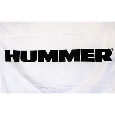 NeoPlex Hummer Auto Logo w/ Words Traditional Flag