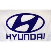 NeoPlex Hyundai Auto Logo w/ Words Traditional Flag