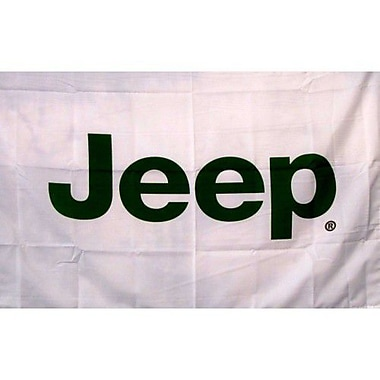 NeoPlex Jeep Auto Logo w/ Words Traditional Flag