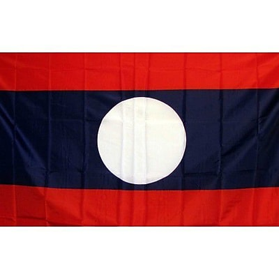 NeoPlex Laos New Country Traditional Flag