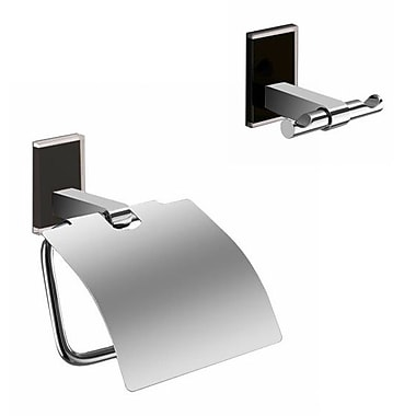 Gedy by Nameeks Maine 2 Piece Bathroom Hardware Set; Black