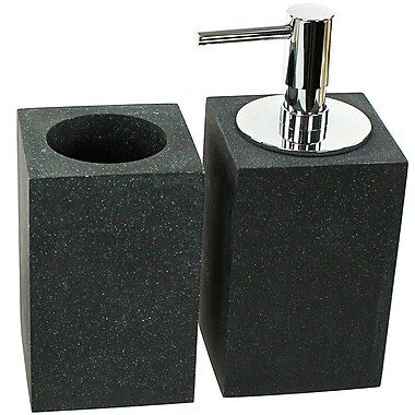 Gedy by Nameeks Oleandro 2-Piece Bathroom Accessory Set; Black